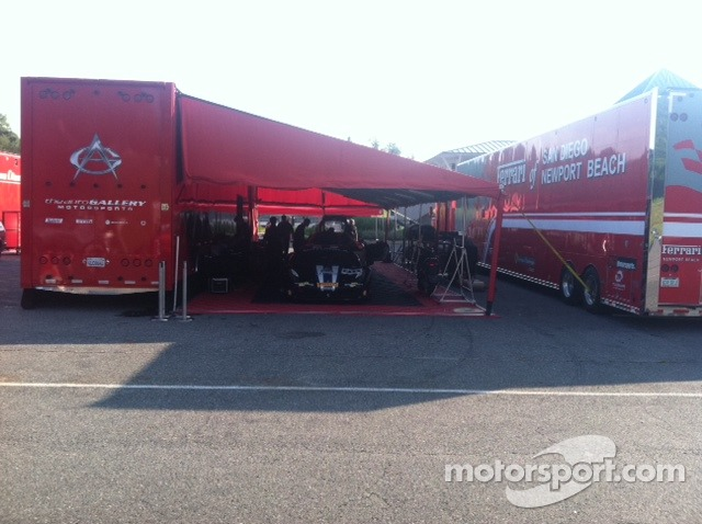 Auto Gallery Motorsports Hauler and paddock area