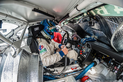 Rob Blake Connects to In-Car Cooling during a brutal 98 degree Race Day in July at Sebring.