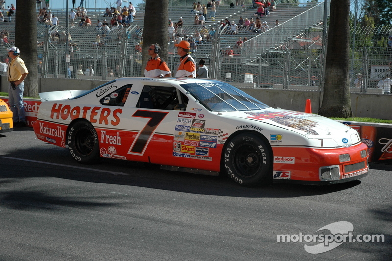 The #7 Hooters Thunderbird on the pre-grid at the 2007 San Jose Grand Prix