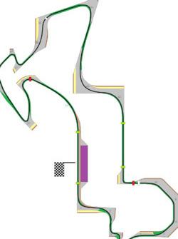F1 Track 4.8 km. more info here --> https://imgur.com/a/kCWVkt6