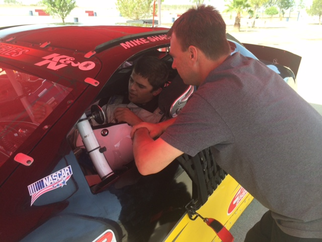 Pro driver & coach Thomas Martin downloads with Michael