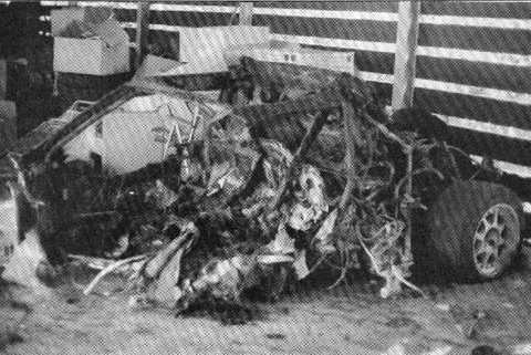 Автомобиль Марка Зурера после аварии
