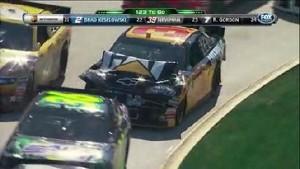 Burton Bumps Breaks Fender - Martinsville Speedway 2011