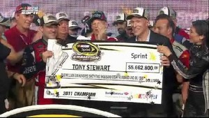 Trophy Presentation - Homestead-Miami Speedway 2011