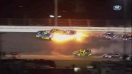 Lap 9 Wreck - Budweiser Shootout - Daytona - 02/18/2012