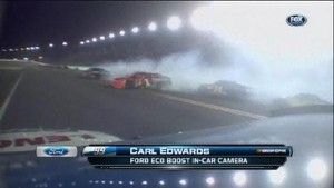 Wreck With 13 Laps to Go - Daytona 500 - Daytona - 02/27/2012