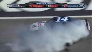 Tony Stewart Burns Out In Victory! - Kobalt Tools 400 - Las Vegas 2012