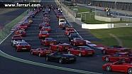 Largest parade of Ferrari Cars - Silverstone