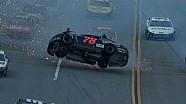 Kurt Busch flips in big wreck at Talladega! - Aaron's 499 - 2013