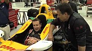 Kurt Busch and Mario Andretti Indy Car Test