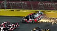 Johnny Sauter crashes at Charlotte!