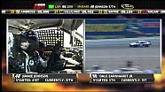 NASCAR Engine trouble sends Jimmie Johnson to the garage | Michigan International Speedway (2013)