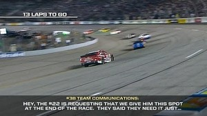 Exclusive audio of Logano/Gilliland conversations - Was it cheating?