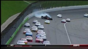 NASCAR Blaney spins, brings caution | Kansas Speedway (2013)