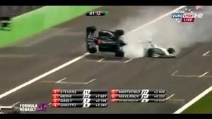 Formula Renault 3.5 massive crash between Marco Sorensen and Jazeman Jafaar at Monza
