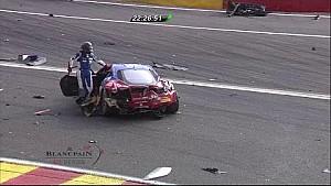 Massive crash for SMP Ferrari - 2014 24 Hours of Spa
