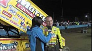 World of Outlaws STP Sprint Car Series Victory Lane from Terre Haute Action Track
