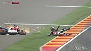 Dani Pedrosa Wrecks in Rain - Aragon GP 2014