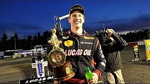 Morgan Lucas wins the 50th Auto Club NHRA Finals