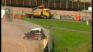 Highspeed crash at MINI Challenge Sachsenring