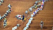 Ken Roczen's second crash of the night in Atlanta Supercross - Main Event