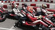 Las estrellas de la Fórmula E van a los karts