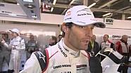 Entrevista con Mark Webber después de que el Porsche NO. 17 obtuvo la  pole position