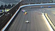 Pippa Mann hits end of pit wall - Wednesday Indy 500 practice