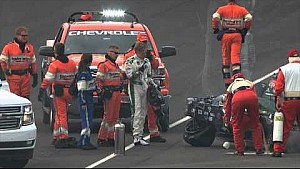 Accident d'Ed Carpenter à Indianapolis