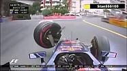 Brutal accidente de Max Verstappen - Gran Premio Mónaco F1 2015