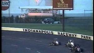 Jeff Gordon wins USAC Midgets heat race in 1990