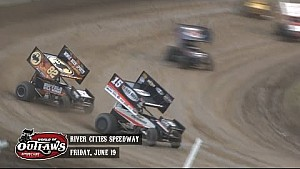 Aspectos destacados: World of Outlaws Sprint Cars River Cities Speedway 19 de junio 2015