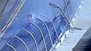Violent flip into fence ends NASCAR race - Fans injured