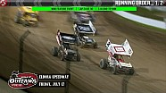 Highlights: World of Outlaws Sprint Cars Eldora Speedway July 17th, 2015