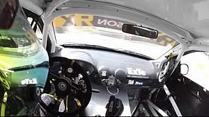 Robin Larsson en la cámara Headcam: Alemania RX - FIA Campeonato del Mundo de Rallycross