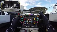 Cámara a bordo del Williams F1: Manejando en el trabajo