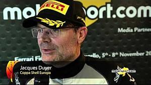 Finali Mondiali Ferrari   Podio Gara 1 Coppa Shell Europa, le interviste