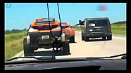 Robby Gordon crashes with his own support vehicle