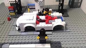 كيف يتم تصنيع سيارة بورش 911 جي تي 3 آر بقطع ليغو ؟
