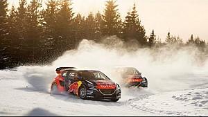 Rallycross auf Eis mit Sebastien Loeb