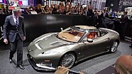 The unveiling of the Spyker C8 Preliator