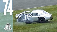 Dramatic AC Cobra crash into tyre wall