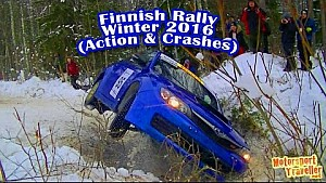 Actionbilder von Rallyes in Finnland