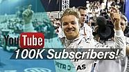 100,000 Abonnenten! Nico Rosberg sagt DANKE!