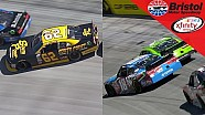 Busch and Gaughan slip, slide and save their cars
