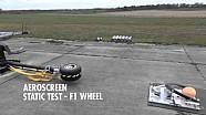 Aeroscreen - Test statique avec une roue lancée à 225km/h