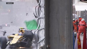GP de Monaco - Gros crash de Jolyon Palmer