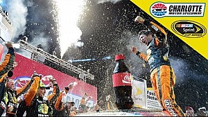 Truex, girlfriend shed tears of joy after huge win.
