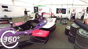 Il garage della DS Virgin a 360 gradi