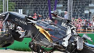 GP d'Australie - Le crash de Fernando Alonso et Esteban Gutiérrez